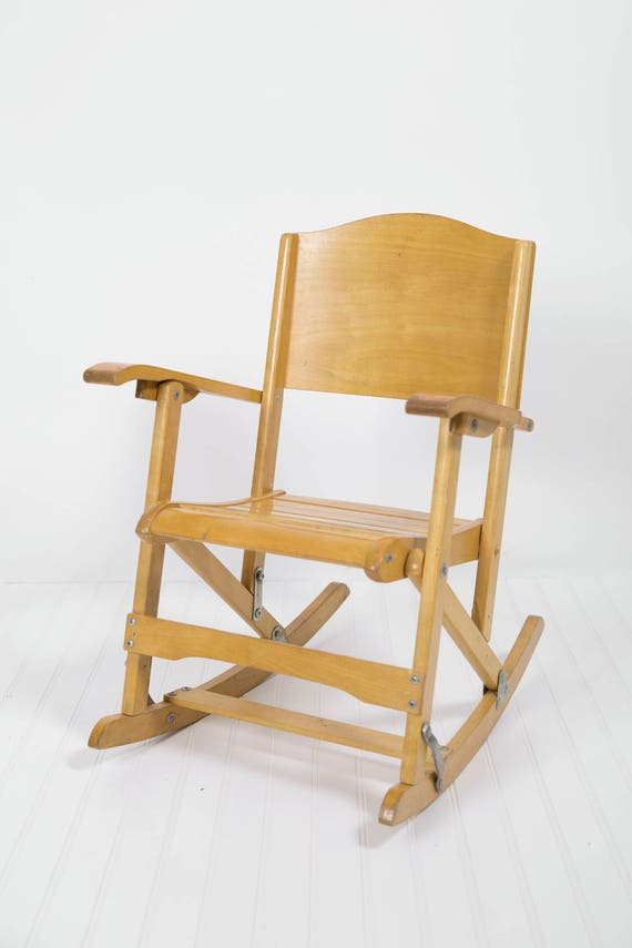 image 0 - Vintage Toddler Rocking Chair Antique Folding Rocking Chair Etsy