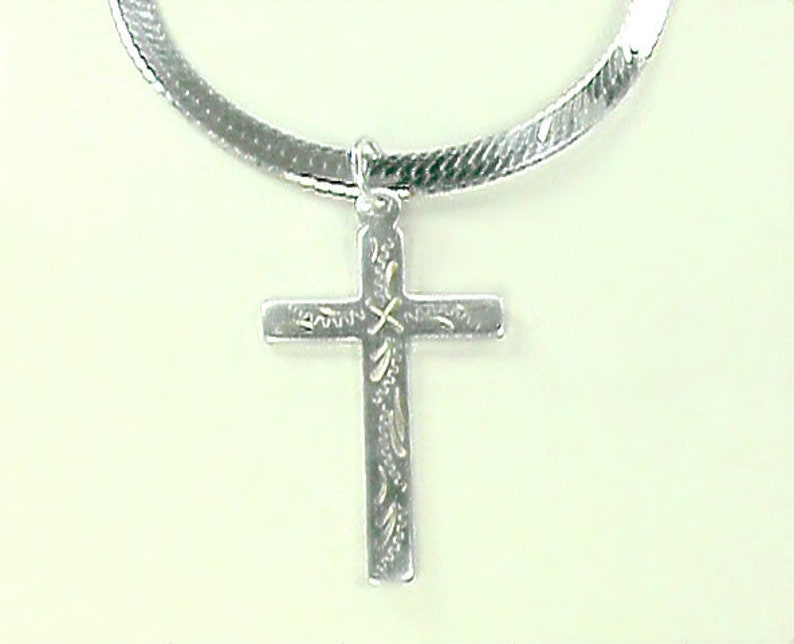 Creed Cross Sterling Silver Necklace Custom 925 Cross w/ image 0