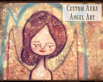 Custom Aura Angel Art. Let me create an angel to represent your aura. Aura, Art, Spiritual, Gift, Custom Art, Angel Art, Inspirational Gift