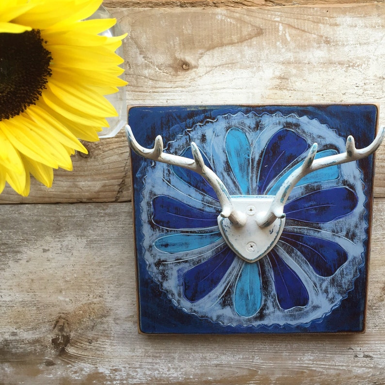 Chalk Painted Jewelry Holder