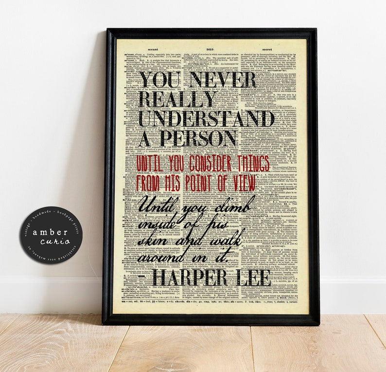 To Kill A Mockingbird Inspirational Quote Vintage Upcycled image 0