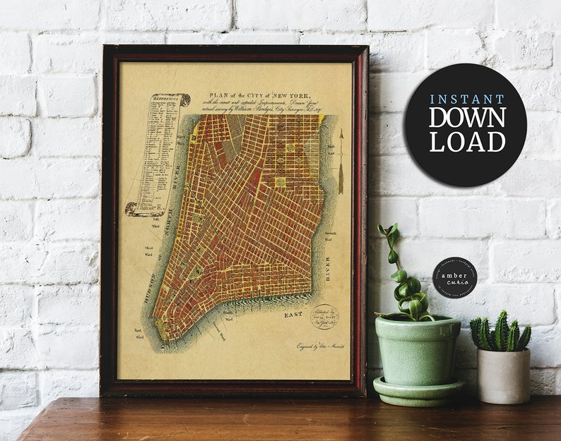 NYC Printable Wall Art Instant Download New York City image 0