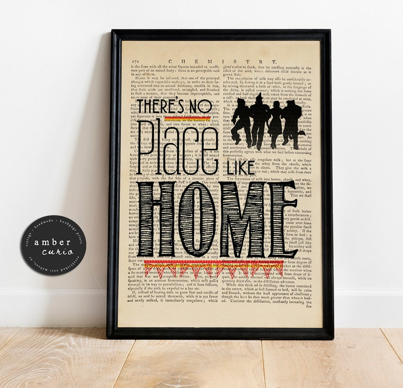 No Place Like Home Wizard of Oz Book Page Print image 0