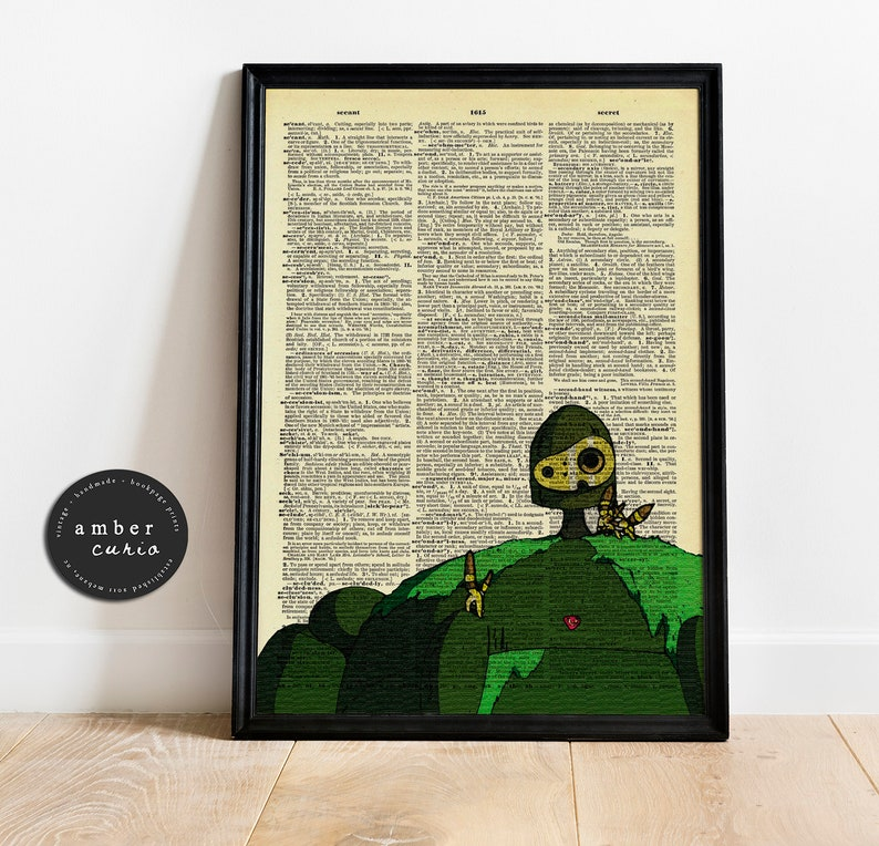 Castle in the Sky Animated Movie Vintage Upcycled Book Page image 0