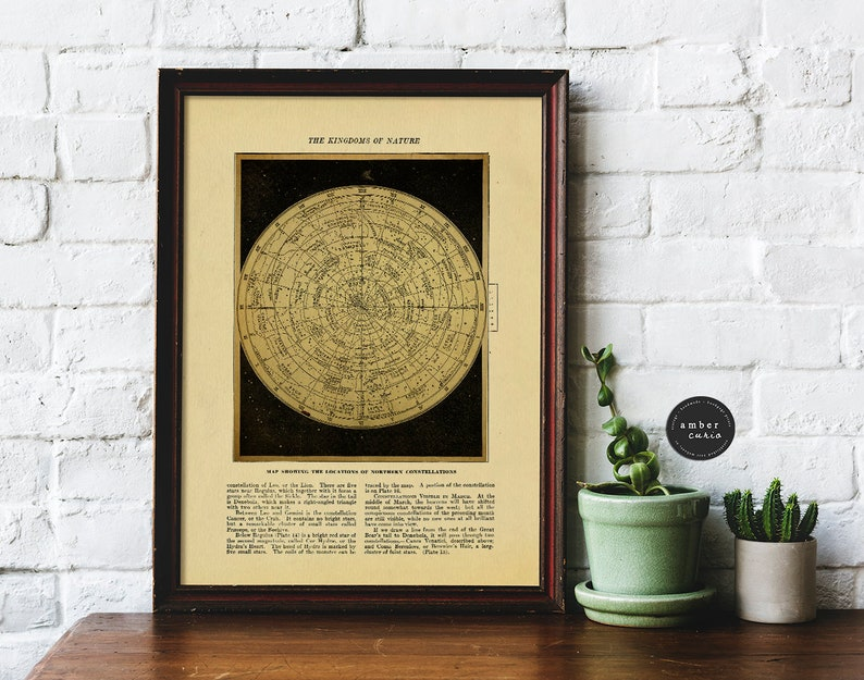 Constellation Printable Wall Art Instant Download Nature Map image 0