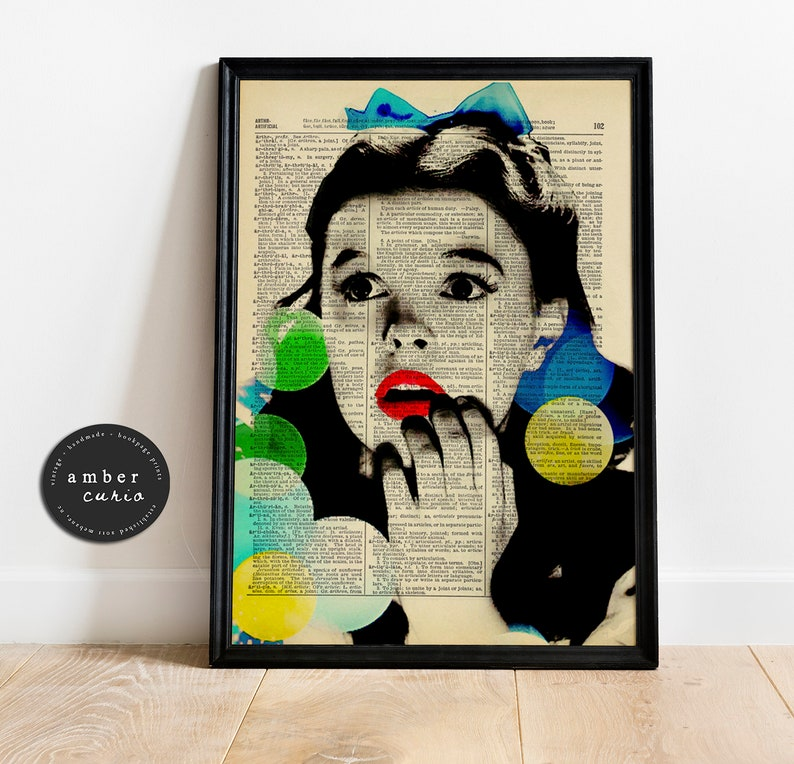 Wizard of Oz Dorothy Gale Inspired Upcycled Antique Book Page image 0