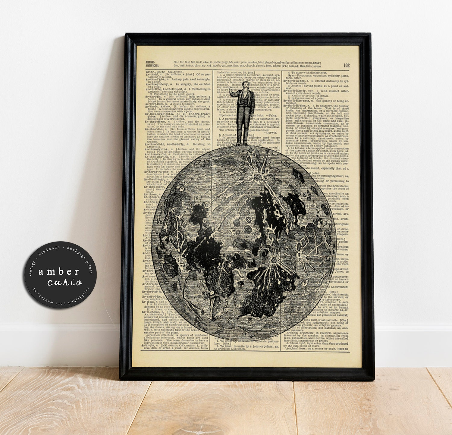 Victorian Mermaid Woman Illustration Vintage Upcycled Dictionary Art Print 8x10 inches