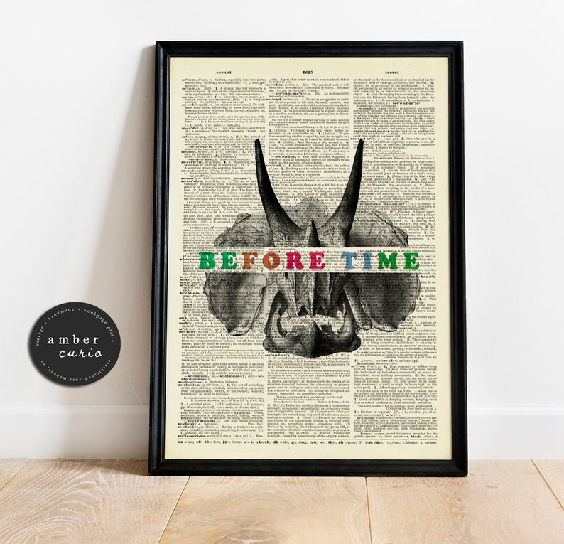 Before Time Print  90s Nostalgia Art  Antique Page Print  image 0
