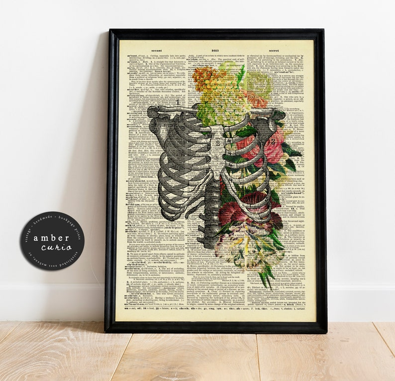 Garden Air Book Print  Victorian Flowers  Floral Collage  image 0