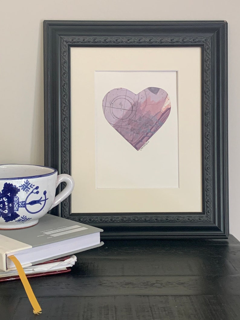 anniversary gift 5x7 matted to 8x10 unconditional love Show Love With No Remorse #1 Love art mixed media heart wedding gift