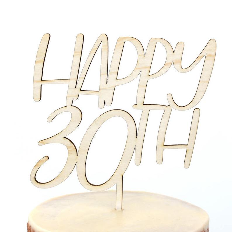 30th Birthday Cake Topper Anniversary Happy
