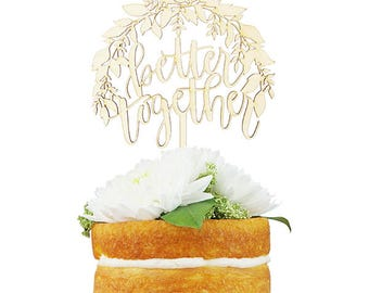 Better Together Foliage Cake Topper