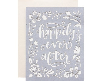 Wedding Card - Happily Ever After Laser Cut Card