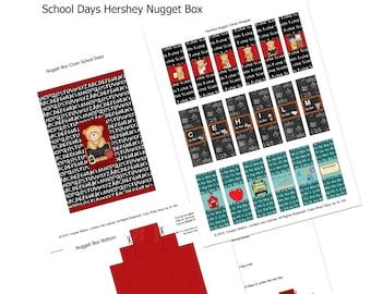 Digital Printable Slider Gift Box Set for Nugget Candies - Hershey Nuggets - Teacher Gift - Stocking Stuffer