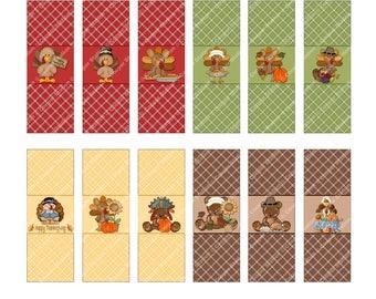 Digital Printable Thanksgiving Hershey Nugget Candy Wrappers - Candy Wrappers- Thanksgiving Candy Wrappers - Holiday Nugget Wrappers