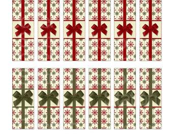 Digital Printable Holiday Hershey Nugget Candy Wrappers - Christmas Candy Bar Wrappers - Christmas Gift Nuggets - Christmas Stocking