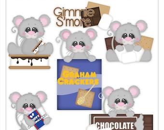 "Digital Clipart - S""mores Clip Art - Chocolate Clip Art - Mouse Clip Art - Kristi W Designs"
