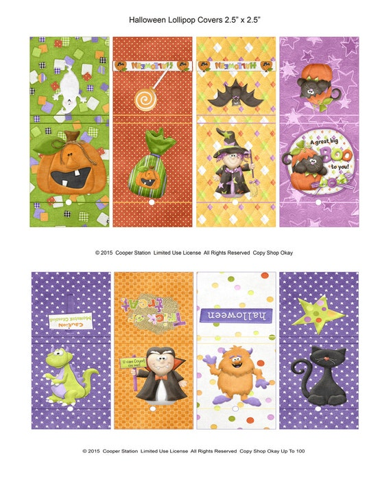 Holiday Lollipop Covers Christmas Printable Digital Lollipop Wrappers Christmas Bears Sucker Covers