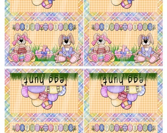 Digital Printable Easter Bag Topper