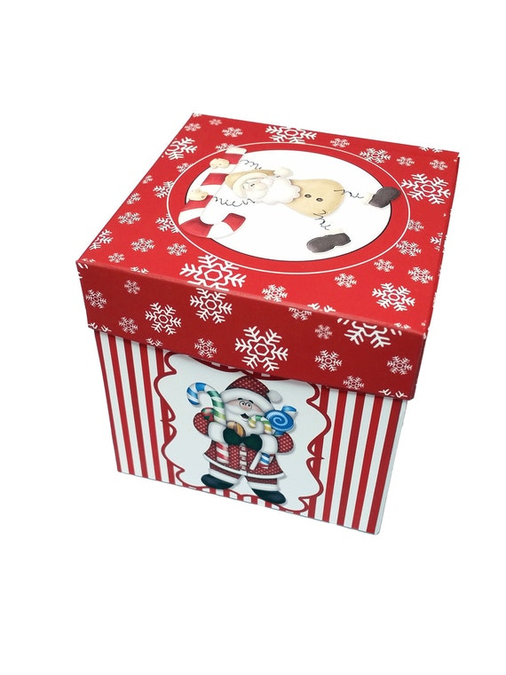Digital Printable Christmas Candy Cane Cupcake Box