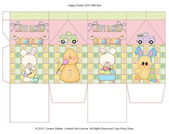 Digital printable Easter Milk Box