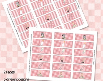 Printable Hershey Nugget Candy Wrappers - Baby Girl Style