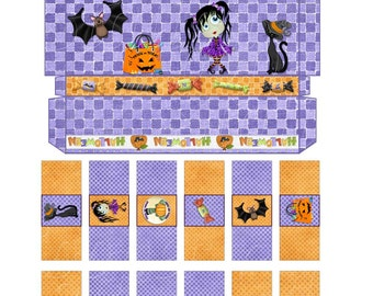 Printable Halloween Hershey Nugget Box With Nugget Wrappers