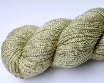 """Kettle Dyed Lace Yarn, Baby Alpaca, Silk, and Cashmere Lace Weight, in """"Lichen"""""""