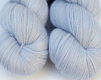"""Kettle Dyed Lace Yarn, Baby Alpaca, Silk, and Cashmere Lace Weight, in """"Lilac Whisper"""""""