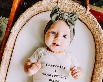 Toddler Headband Baby Shower Gift Cream Baby Bow Headband Christening Baby Girl Bow Headband Newborn Baby Gift Newborn Headband