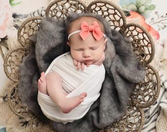 Sailor Bows, Baby Girl Bow, Baby Hair Bow, Baby Headband, Newborn Bows, Baby Girl Headband, Newborn Headband, Schoolgirl Bow, Felt Bows, Bow
