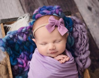 Baby Girl Bow, Sailor Bow, Baby Girl Headband, Newborn Bow, Newborn Baby Headband, Girls Bow, Felt Headbands, Infant Toddler Headband
