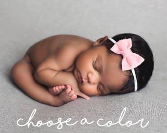 Baby Headbands, Baby Bows, Baby Girl Headbands, Baby Girl Bows, Girls Hair Bow, Newborn Headband, Felt Bow Headband, Newborn Bows, Mini Bow
