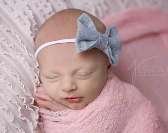Felt Baby Headband, Baby Girl Headband, Newborn Headband, Baby Bows, Girls Hair Clips, Newborn Girl Hair Bows, Felt Bow Headband, Girls Bow
