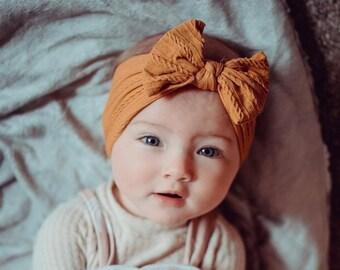 Baby Girl Headband Pumpkin Spice Headband Holiday Headband Infant Headband Fall Baby Headband Baby Headband Newborn Headband Baby