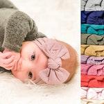 Baby Headwrap, Wide Bow Headband, Nylon Baby Headband, Turban Headband, Baby Girl Bow, Newborn Bows, Stretchy Headband, Infant Headband