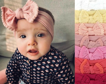 ead58ce423a5 Baby Girl Headband, Baby Headband, Newborn Headband, Baby Bow Headband, Turban  Headband, Newborn Photo Prop, Baby Girl Bow, Newborn Bows