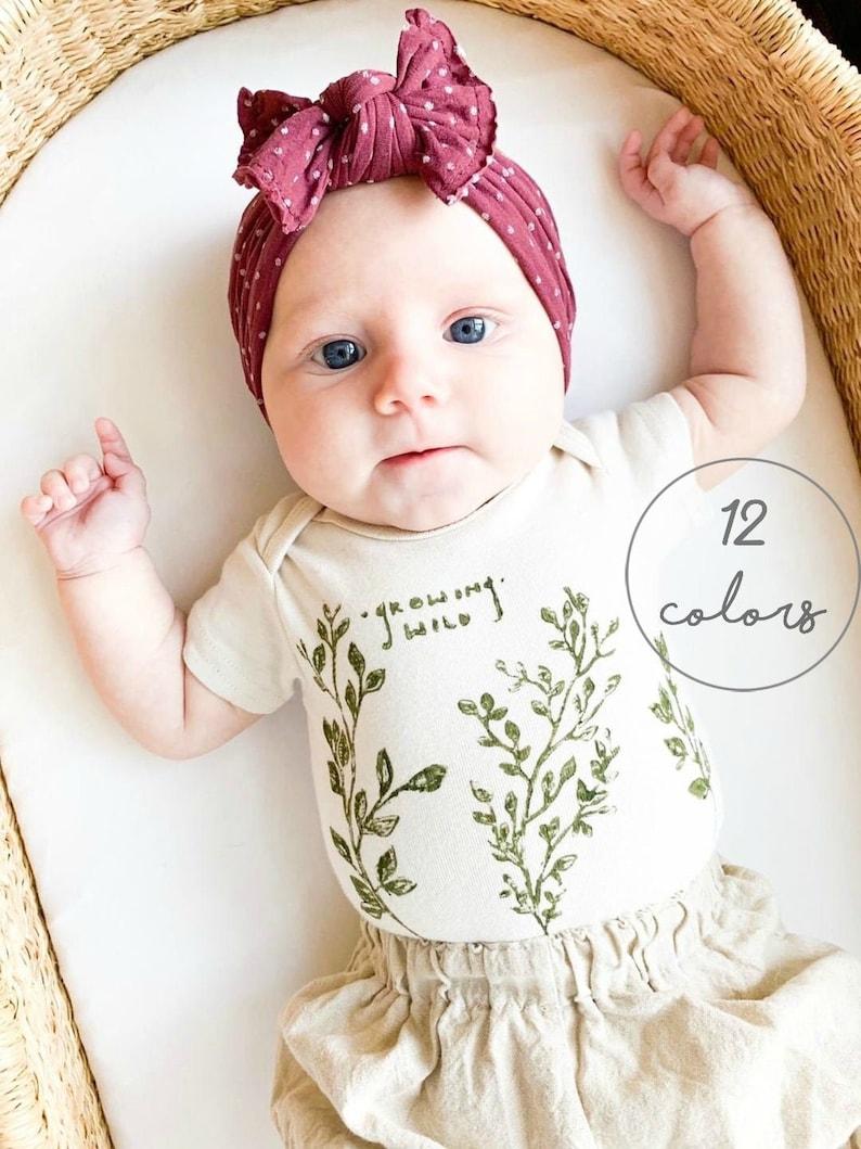 Baby Girl Bow Baby Headband Sailor Bow Newborn Bow Newborn image 0