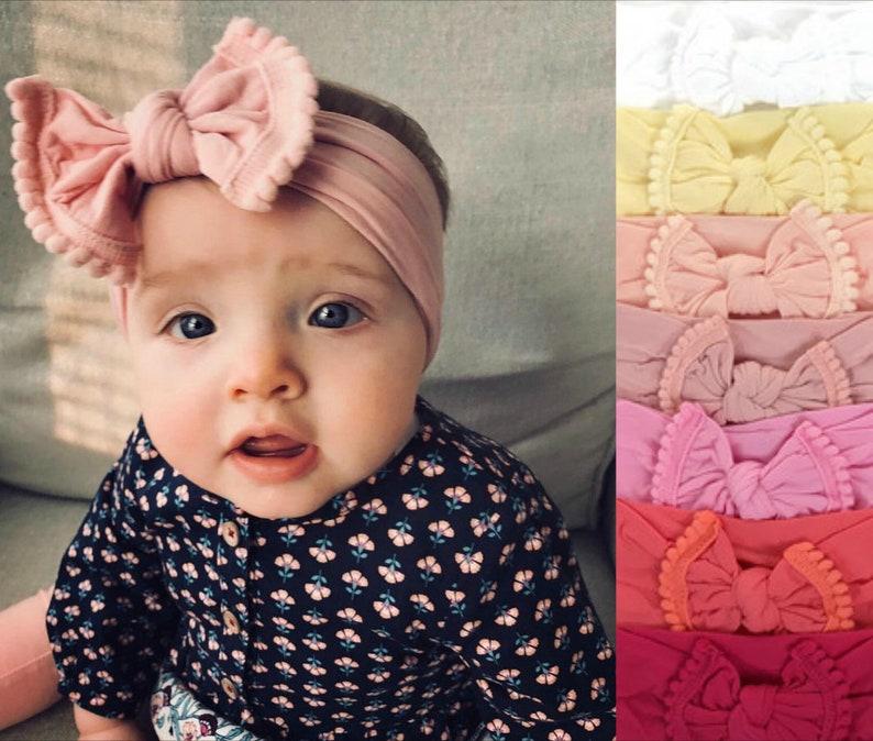 Baby Girl Headband Baby Headband Newborn Headband Baby Bow image 0