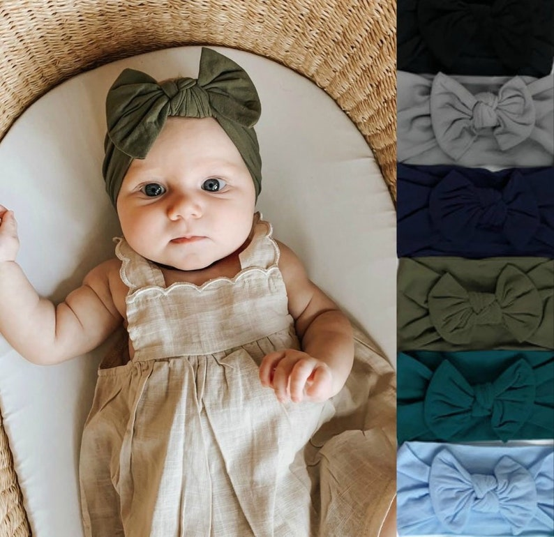 Big Bow Headwrap One Size Fits All Headbands Oversized Bow image 0