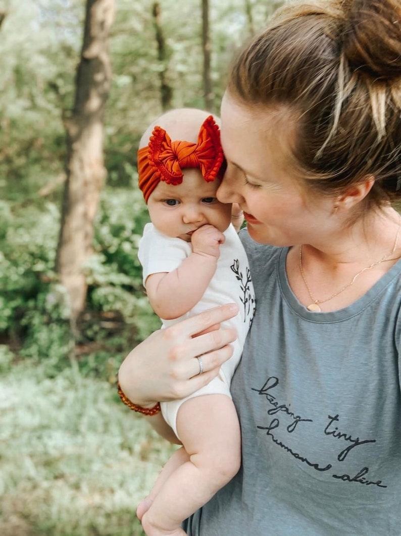 Fall Baby Headband Knot Headband Newborn Girl Headband image 0