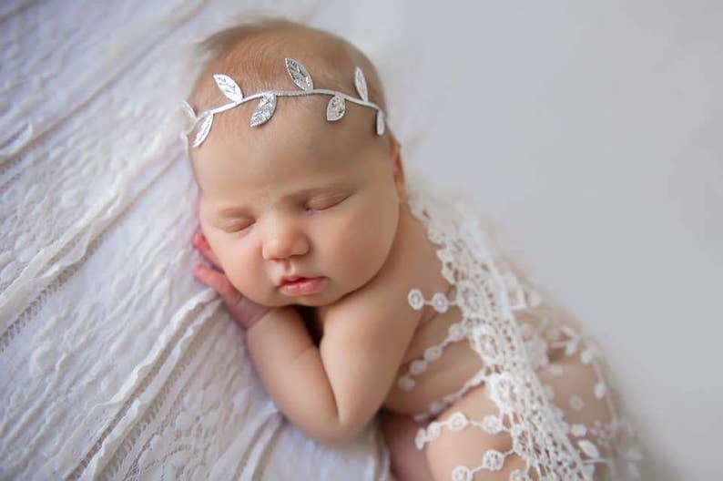 Silver Headband Baby Halo Headband Boho Headband Baby Girl  a66e3382cdf