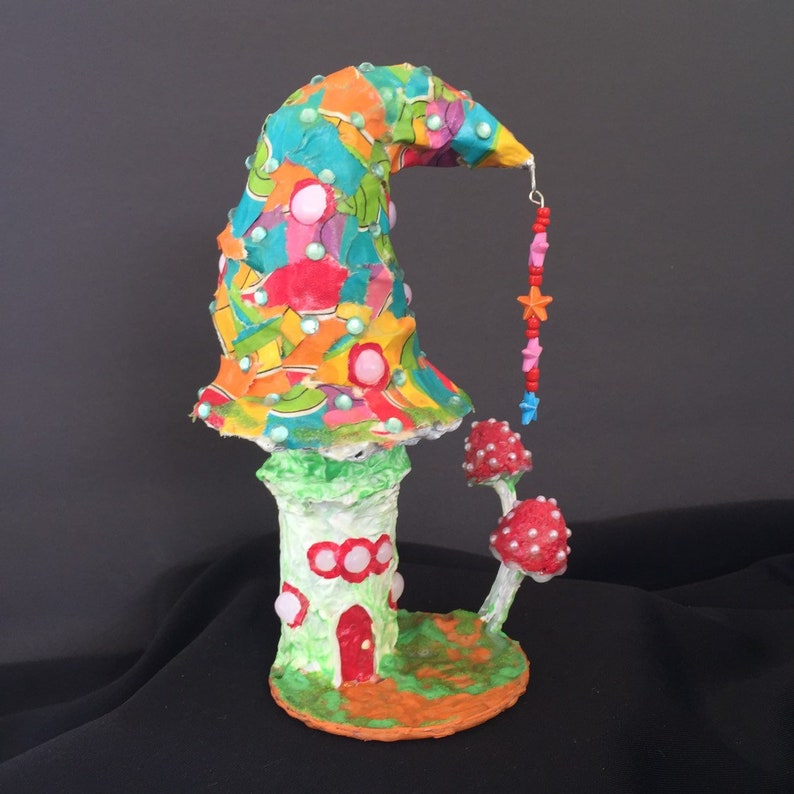 Candyland Fairy Garden House Hand Sculpted Painted Miniature image 0