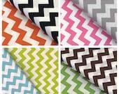 Chevron Fabric black, orange, aqua, lime,pink, green, gray by Riley Blake Fabrics, broadcloth quilting medium chevron fabric sold by Yard
