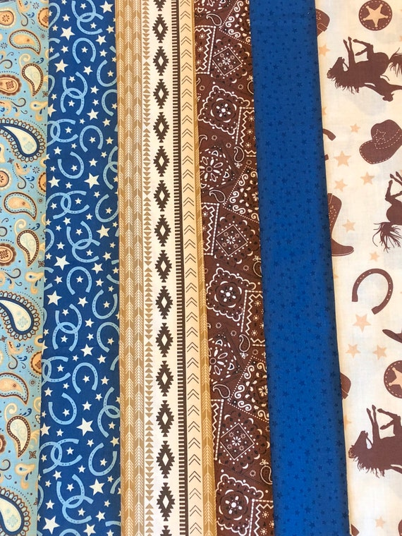 approx 18 by 22 inches Paisley modern fat quarter material fabric