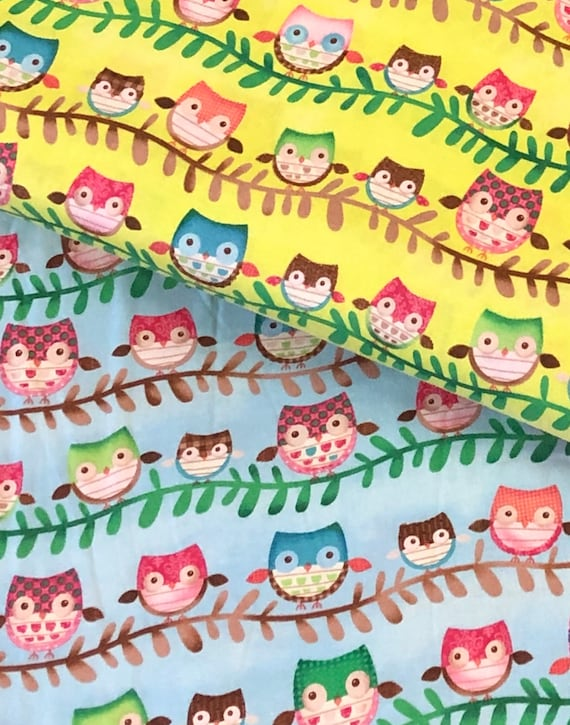 Woodland Owl Tree Branch Baby Fabric Quilting Bright Yellow Etsy 50,000+ vectors, stock photos & psd files. etsy