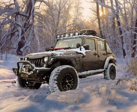 Jeep in The Wild Black