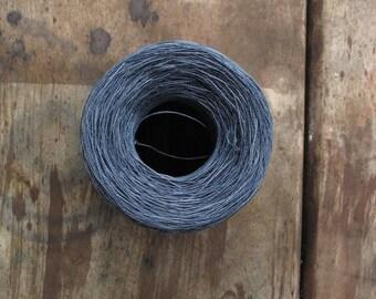 Linen thread, slate, gray, 40/2, hand dyed