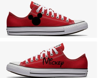 80899d79fbbc2a Converse Hand Painted with Mickey Mouse Design