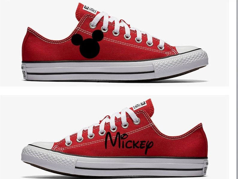 96c6e9bd5531 Converse Hand Painted with Mickey Mouse Design